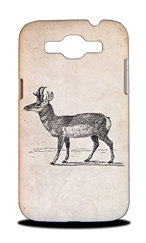 Foxercases Design Prong-Horned-Antelope Hard Back Case Cover For Samsung Galaxy Win I8550 / Grand - Horned Snapback
