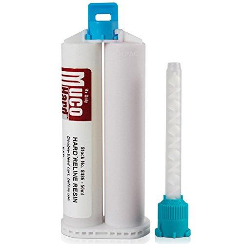 MucoHARD Resin Refill 50 mL Split Cartridge & Mixing Tips (S486)
