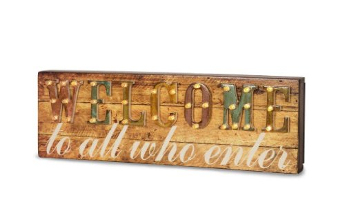 Pavilion Gift Company 35001 Marquee Sign Decorative Plaque, 13 by 4-1/4-Inch, Welcome