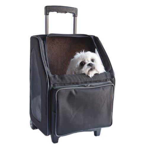 Petote Rio Bag On Wheels Pet Carrier, Black