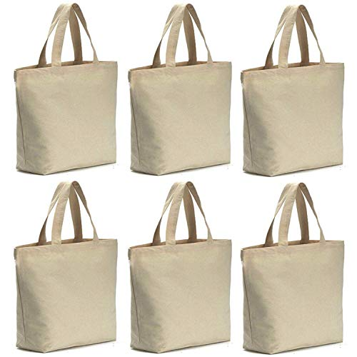 "Axe Sickle 6 per pack 12oz Heavy Natural Canvas tote bag 16"" W X 16"" H X 4.2"" Bottom Gusset,Tote shopping bag,Washable grocery tote bag, Craft canvas bag."