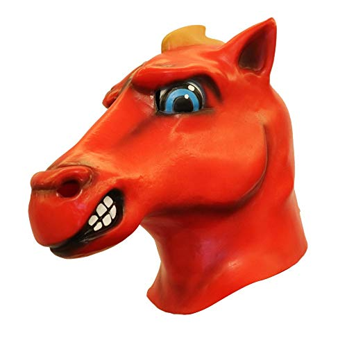 Iusun Cosplay Scary Latex Mask, Halloween Christmas Funny Tricky Burger Tomato-Head Dinosaur Mask Dance Rave Party Mask (C) for $<!--$11.68-->