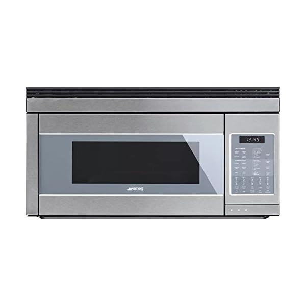 Smeg 30'' Linea Design Over-the-Range Microwave, Stainless Steel 1
