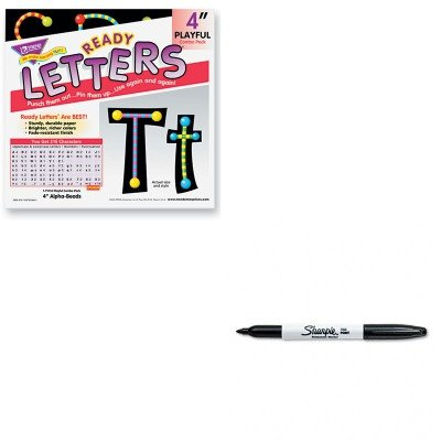 KITSAN30001TEPT79755MP - Value Kit - Trend Ready Letters Alpha-Beads Letter Combo Pack (TEPT79755MP) and Sharpie Permanent Marker (SAN30001) ()