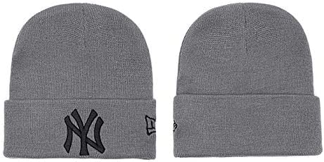 Black Xiaoha Store NY Knit hat Winter Cuff Cap Unisex Fit New York Yankees