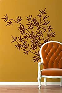 Walliv Bamboo 2 Wall Decals, Black [wa033]