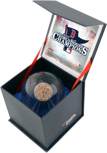 Boston Red Sox 2013 MLB World Series Champions Crystal Baseball with Game Used 2013 World Series Dirt Fanatics Authentic Certified