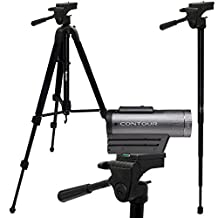 "iGadgitz 150cm (59"") Extendable 2 in 1 Combined Aluminium Travel Tripod and Monopod Stand for Contour Action Cam +2, Roam 2, Roam 3 – Black"