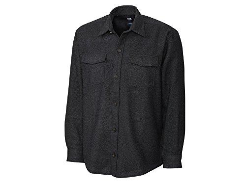 Cutter & Buck BCW09395 Mens L/S Virany Shirt Jacket, Blac...