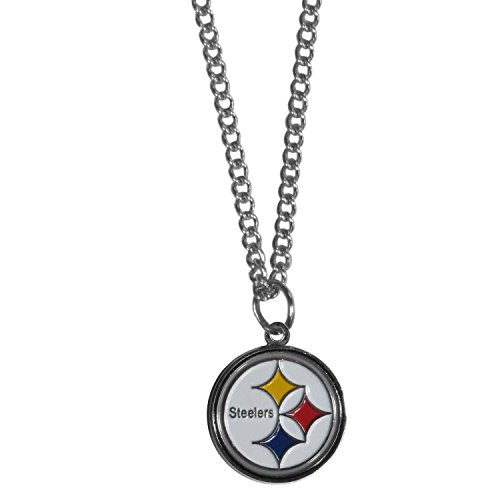 (Siskiyou NFL Pittsburgh Steelers Chain Necklace with Small Pendant, 20