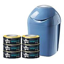 Sangenic Tec 84019102 - Set básico de contenedor de pañales, color azul
