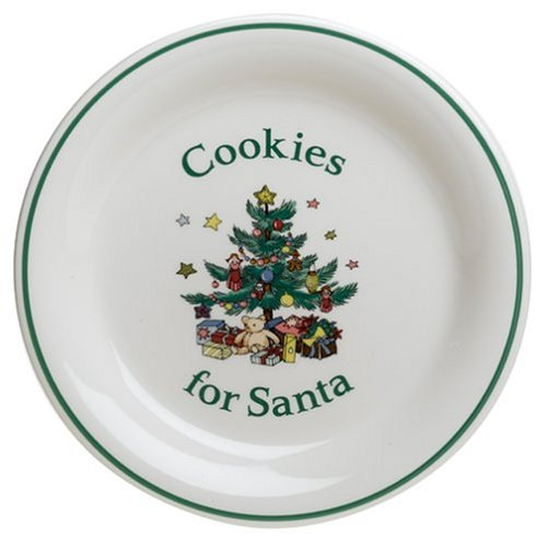 Nikko Ceramics Christmas Giftware Cookies for Santa Serving Plate