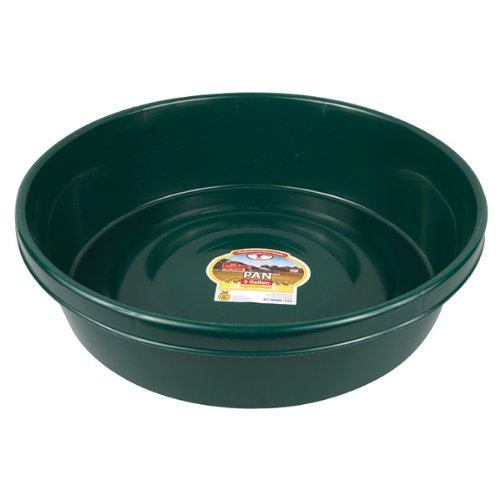 Little Giant P3GREEN Dura-Flex Plastic Utility Pan, 3-Gallon, Green