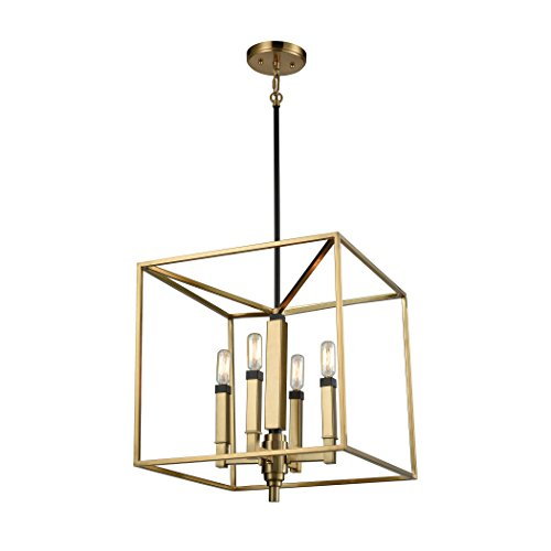 Elk Lighting 67754/4 Mandeville - Four Light Chandelier, Satin Brass/Oil Rubbed Bronze - Mandeville Stores