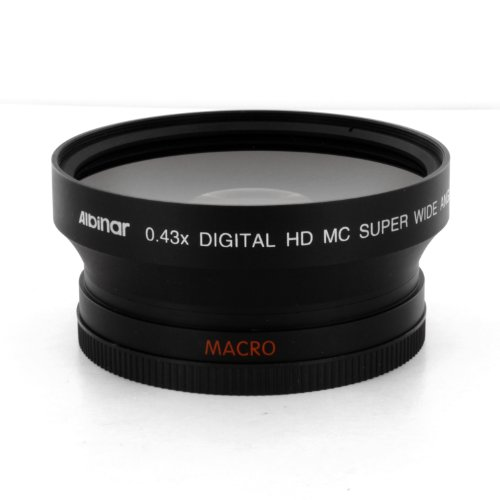 Albinar 0.43x 72mm Super Wide Angle HD Fisheye Lens with Macro - Black