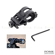Tactical Flashlight Mount£¬FOME Tactical Flashlight 30mm Offset Weapon Picatinny Mount for Surefire, Laser, Tactical Flashlights and All 30mm Mountable Accessories + FOME Gift