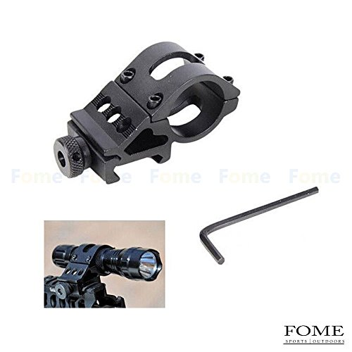 FOME Tactical Flashlight 30mm Offset Weapon Picatinny Mount for Surefire, Laser, Tactical Flashlights and All 30mm Mountable Accessories+ FOME Gift
