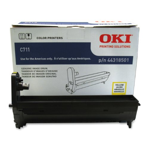 Drum Yield 20000 Unit (Oki Data 44318501 Image Drum for C711 Series Printers, 20000 Page Yield, Yellow)