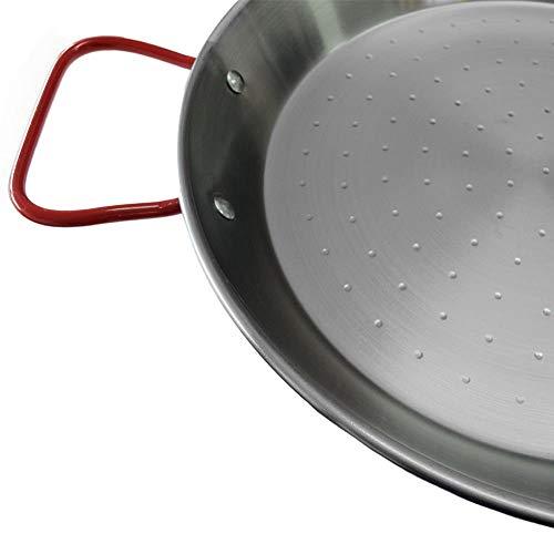 Garcima 32-Inch Carbon Steel Paella Pan, 80cm