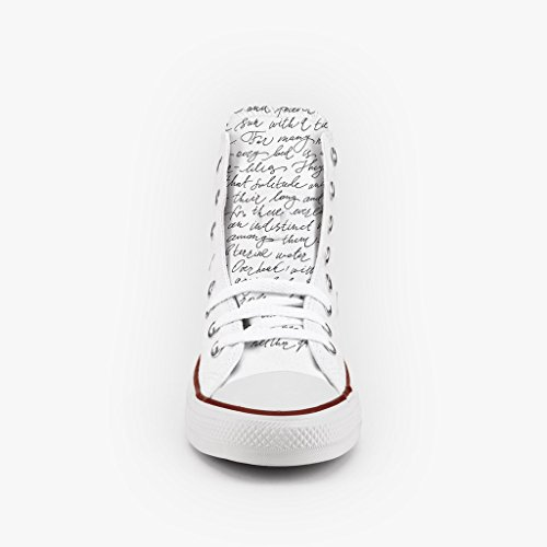 Scarpe All Artigianali Star Personalizzate Converse Alta Borchie Lettera Con qwY0xtR