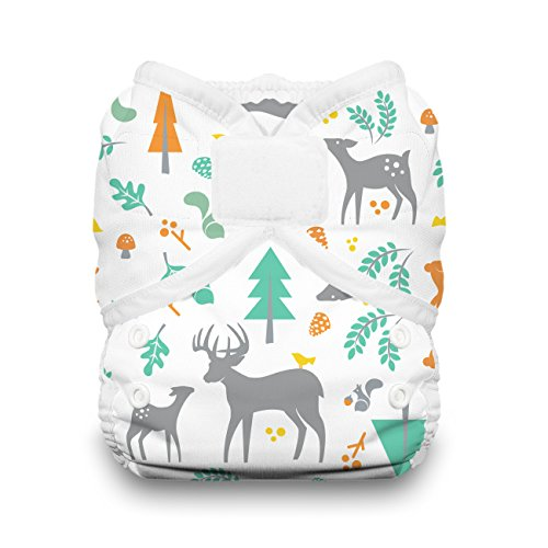 - Thirsties Duo Wrap Cloth Diaper Cover, Hook and Loop Closure, Woodland Size One (6-18 lbs)
