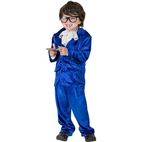 Boy's Austin Powers Halloween Costume (Size: Medium 7-10)
