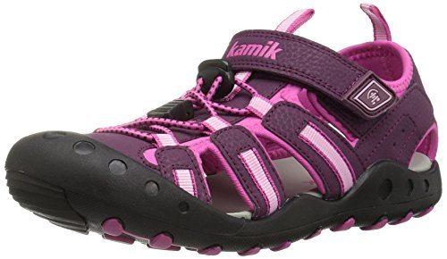 Kamik Girls' Crab Sandal, Plum, 8 M US (8 Kids Footwear Sandals)