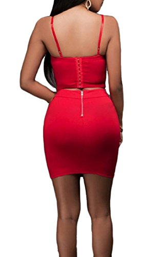 Dress Chest Wrapped Open Women's Club Sexy Comfy Red Bodycon Back Cami Bandage nA6qwnvfUx