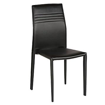 HomeTown Presto Dining Chair, Set of 2 (Black)