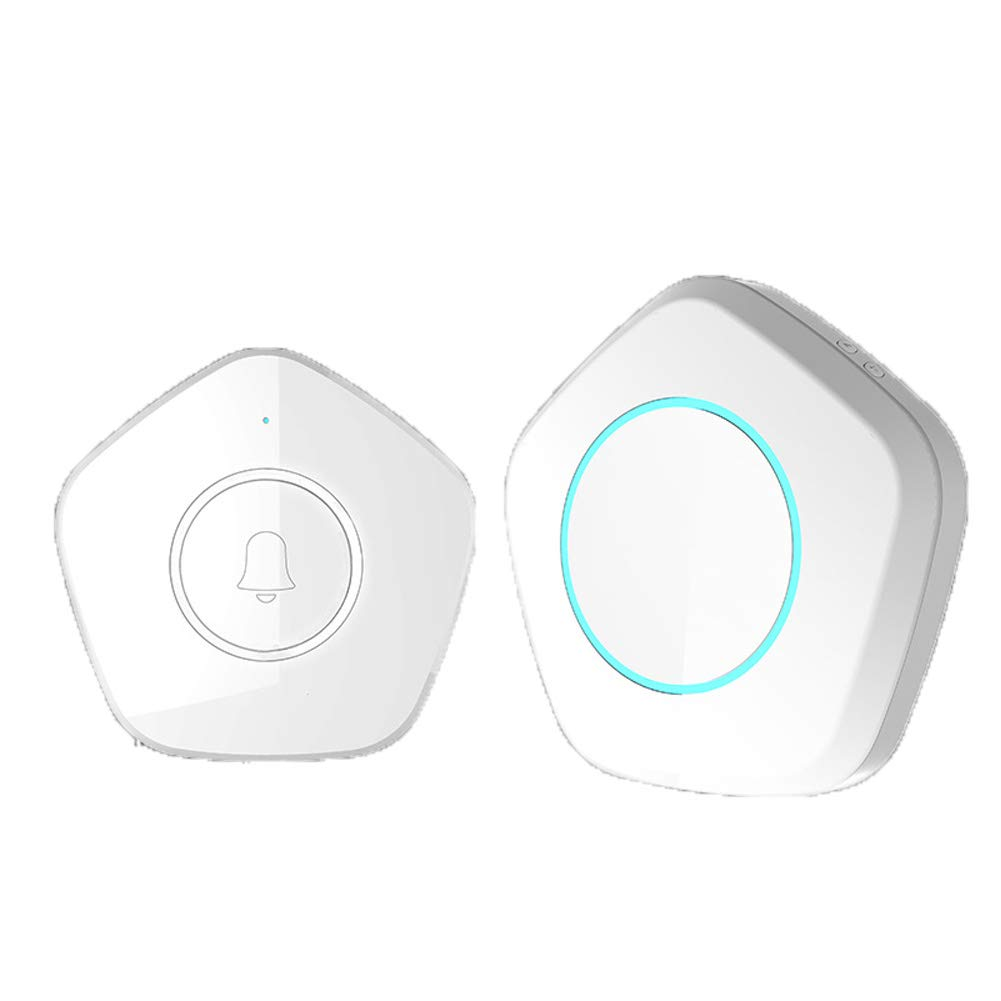 ZYWX Smart Wireless Doorbell, Long Distance, Suitable for 36 Kinds of Melody Selection, Touch Button, 280M Working Range, Suitable for Smart Home, White