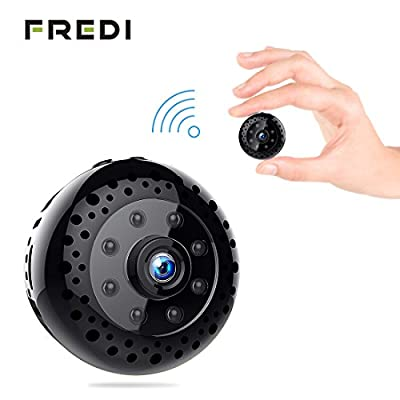 Hidden Spy Camera, FREDI Mini WiFi HD 1080P Wireless Security Nanny Cam for iPhone/Mac / Android/Window Remote View with Motion Detection by Jinbaixun Technology