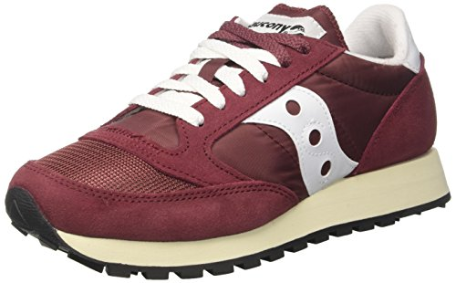 Burgundy Rouge Baskets White 27 Vintage Original Femme Saucony Jazz qwFYRY