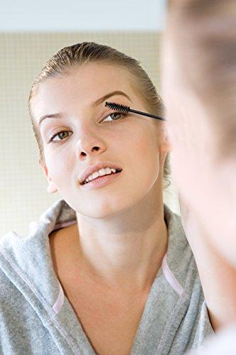 Ohuhu 300 Pcs Mascara Brushes Disposable Eye Lash Eyebrow Eyelash Brushes Mascara Wands Applicator