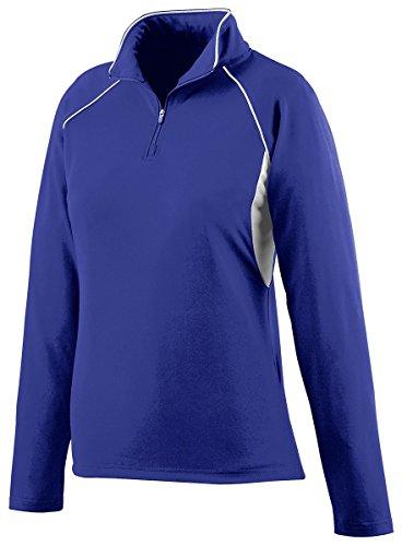 Augusta Sportswear WOMEN'S POLY/SPANDEX HALF-ZIP PULLOVER M Purple/White