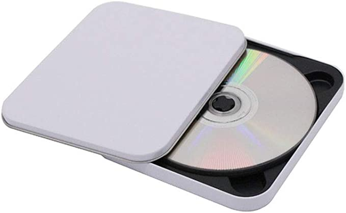 HUIJUNWENTI Caja de CD de Hierro Pintada de Blanco, Caja de CD de Medios, Caja de Almacenamiento de CD, Caja de CD Creativa (Color : White): Amazon.es: Electrónica