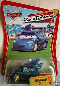 Disney / Pixar CARS Movie 1:55 Scale Die Cast Car Series 4 Race O Rama Impound DJ Chase Piece! ()