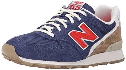 New Balance Women's WL696 Lakehouse Pack Running Shoe, Navy/Red, 9 B US