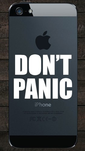 DON'T PANIC Iphone Ipad Macbook Decal Skin Sticker Laptop, Decal Sticker Vinyl Car Home Truck Window Laptop