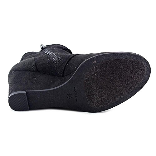 Platform Womens Boots Toe Cap Black Ankle Rag American Baylie Yqw5I10