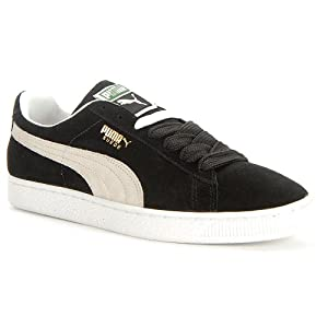 Puma Suede Classic+ Causal Basketball Shoes (US Men 9.5/ Eur 42.5/ 27.5 CM, Black- White)