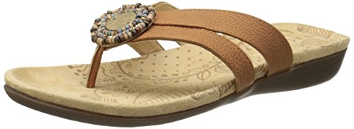 Acorn Sandals (Acorn Women's Samoset Thong Sandal,Teak,10 M US)