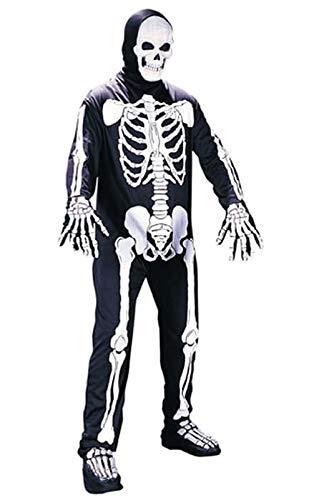 Fun World Unisex Skeleton Adult Costume, Multi, -