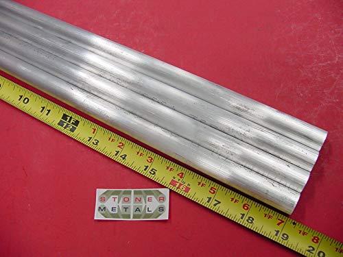0.625' Rod - 4 Pieces 5/8'' Aluminum 6061 Round Rod 19'' Long T6511 Solid Lathe Bar Stock .625''