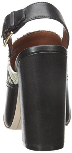 Cole Haan Femmes Tabby Haut Robe Sandale Pompe Roccia Serpent Toile / Cuir Noir / Daim Gland / Noir