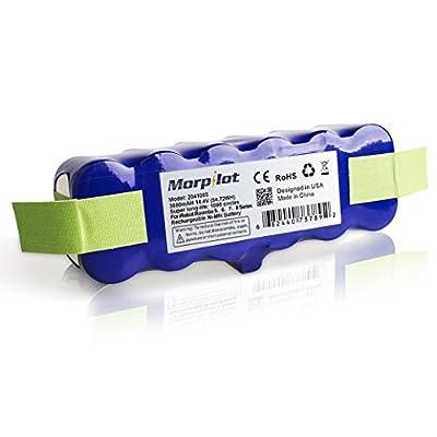Morpilot 3800mAh XLife Extended Life Replacement Battery 1000-Circles 14.4V Battery for Irobot Roomba 500/600/700/800/900 Series 500 510 530 531 570 580 595 600 620 630 650 660 700 760 770 780 790
