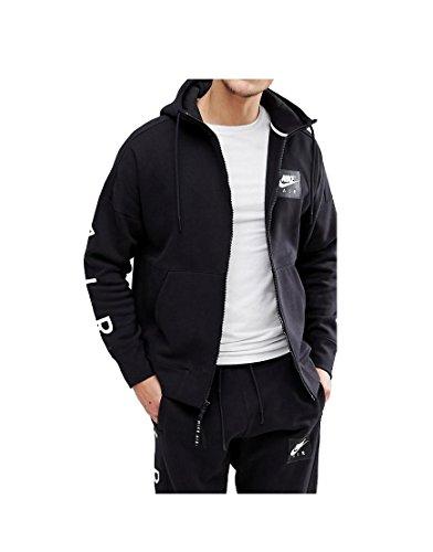 NIKE Mens Air Full Zip Hoody Black/White 886044-010 Size Large ()