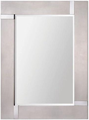 Ren-Wil Capiz Wall Mirror, Silver