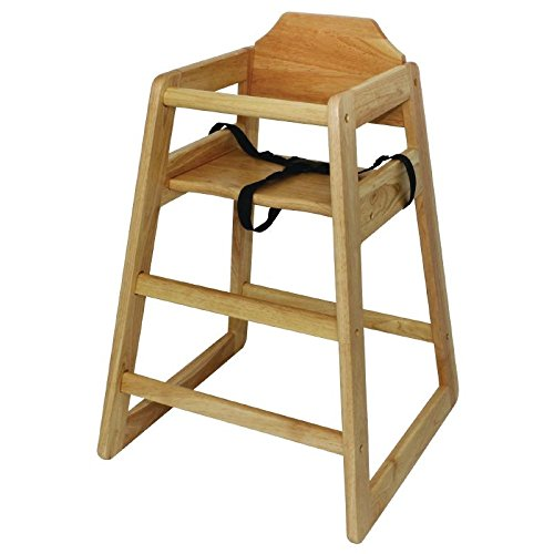 Bolero Wooden Highchair Natural Finish For Dining And Cafe 750X510X510mm Nisbets 3124