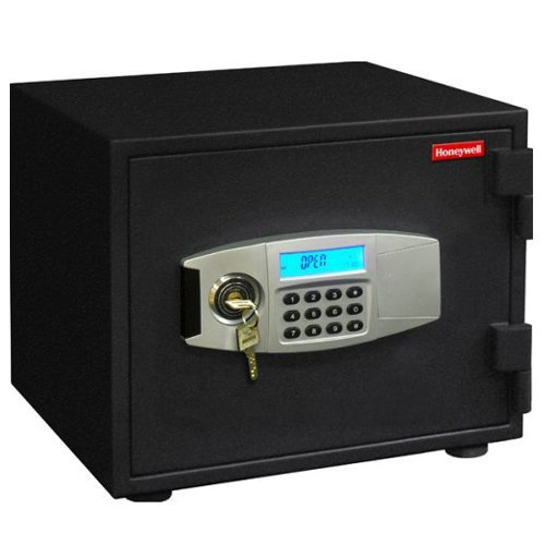 - Honeywell Safes & Door Locks - 2112 Steel 1 Hour Fireproof and Water Resistant and Security Safe with Dual Digital Lock and Key Protection, 0.55-Cubic Feet, Black