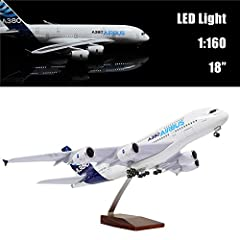 This is a large-sized high-quality airplane model that can be controlled by voice or touch switches. Automatically turn on the large model aircraft, at midnight, your door opening sound or footsteps will make it brighten, fully demonstrated i...